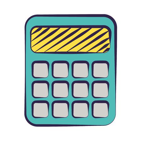 calculator supply on white background vector illustration Illustration