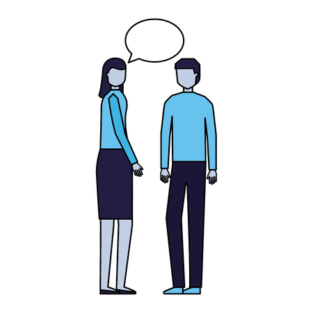 man and woman talking speech bubble vector illustration 版權商用圖片 - 126464212