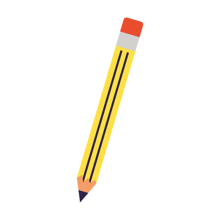 school pen supply on white background vector illustration