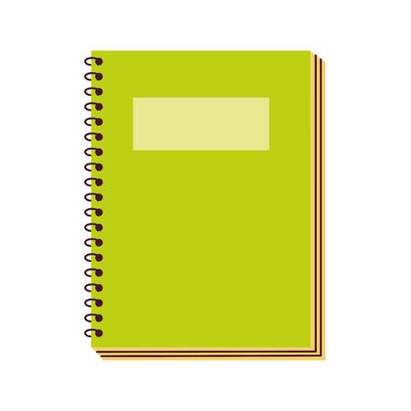 Notebook-Versorgung auf weißem Hintergrund-Vektor-Illustration Vektorgrafik