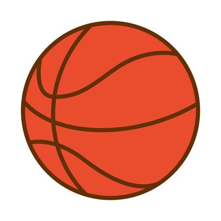 Deporte de pelota de baloncesto en la ilustración de vector de fondo blanco