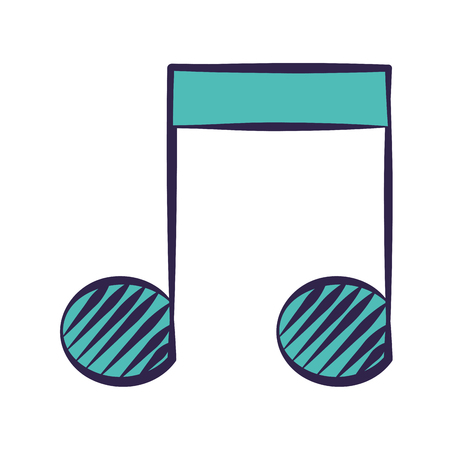 note music on white background vector illustration