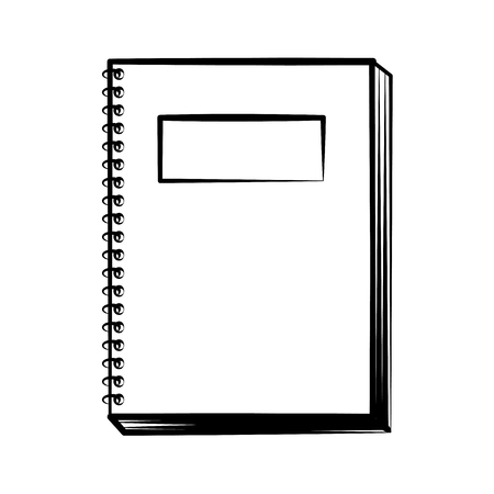 notebook doodle on white background vector illustration