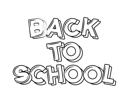 back to school sketch lettering vector illustration