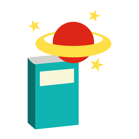 book and planet back to school vector illustration Illustration