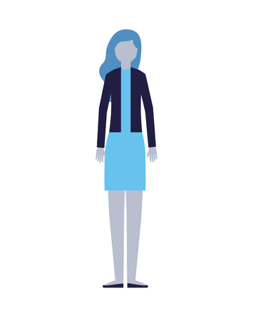 woman character on white background vector illustration