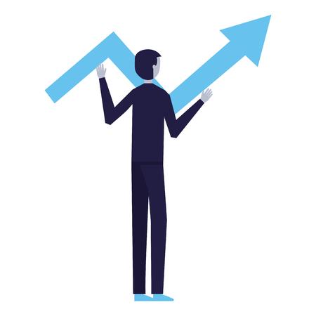 businessman holding arrow business white background vector illustration Banque d'images - 126464462