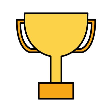 trophy award on white background vector illustration