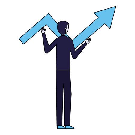 businessman holding arrow business white background vector illustration Banque d'images - 126464566