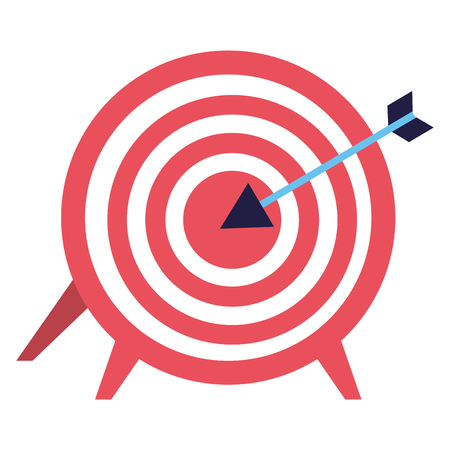 target and arrow on white background vector illustration Çizim