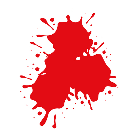red spot paint on white background vector illustration
