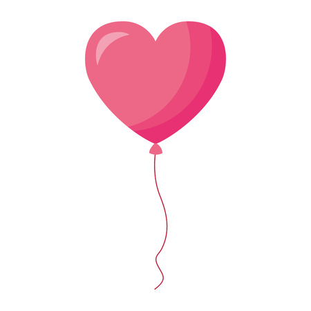 balloon shaped heart valentine day vector illustration Stock Vector - 126465517
