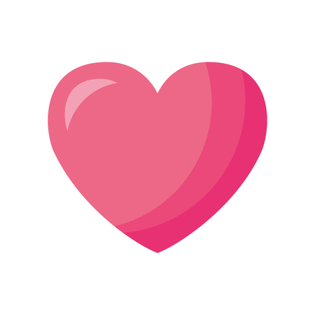 pink love heart valentine day vector illustration Illustration