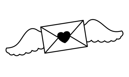 message love wings valentine day vector illustration Stock Illustratie