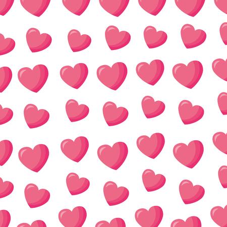 pink hearts love valentine day background vector illustration Illustration