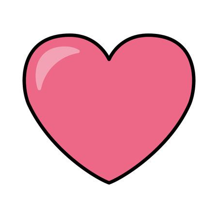 pink love heart valentine day vector illustration Illustration