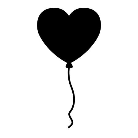 balloon shaped heart valentine day vector illustration Illustration