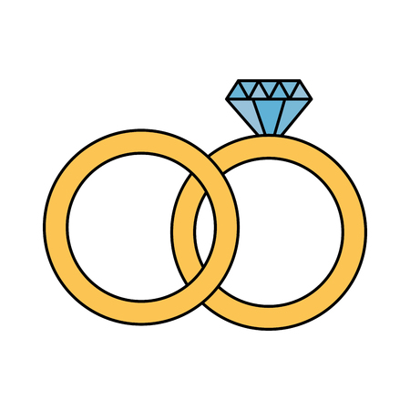 valentine day card wedding rings vector illustration Illustration