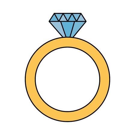 valentine day card wedding ring vector illustration Banque d'images - 114666961