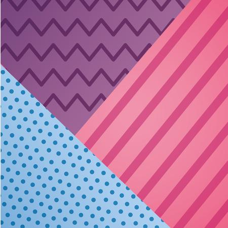 geometric line dots zig zag decoration pattern vector illustration