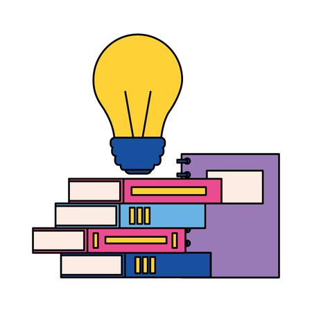 books bulb creativity back to school vector illustration