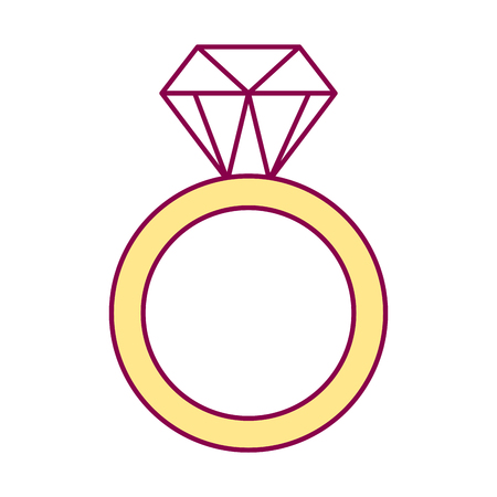golden ring with diamond valentine day vector illustration 向量圖像