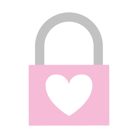 padlock heart love valentine day  vector illustration