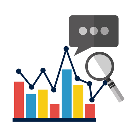business chart report statistics analysis vector illustration