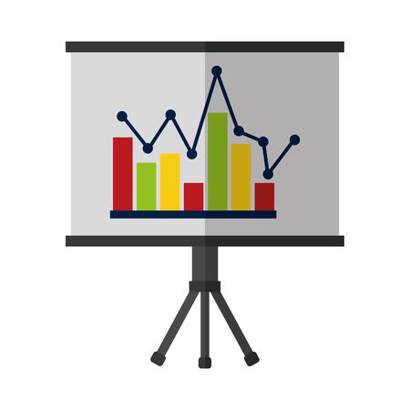 business chart report board presentation vector illustration Ilustração