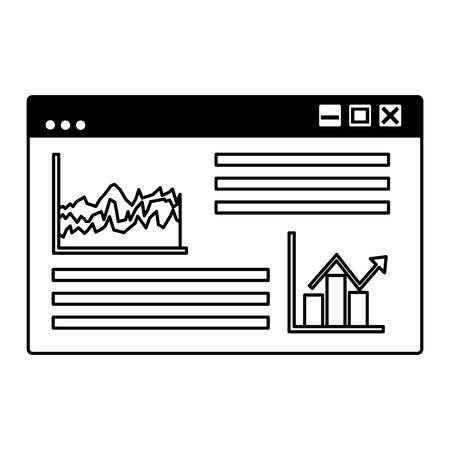 business chart report website financial vector illustration