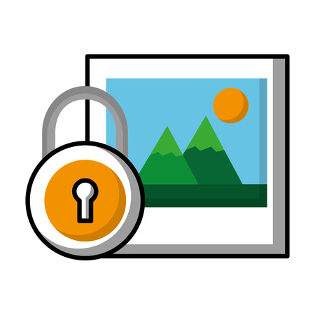 picture security data social media vector illustration Banque d'images - 126466128