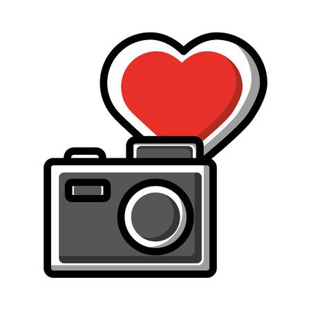 photography camera love like social media vector illustration Фото со стока - 114667484