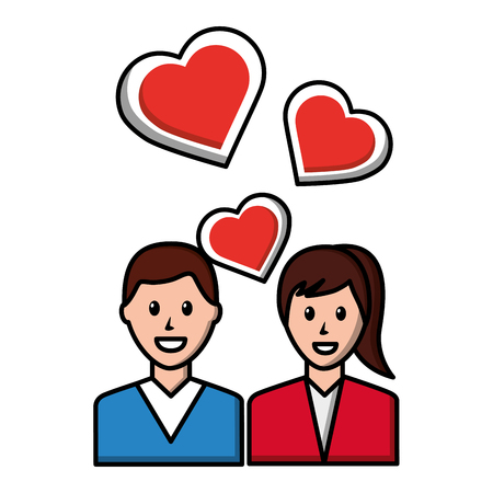 couple love romantic social media vector illustration