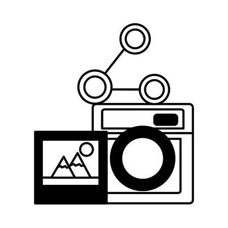 photography camera picture share social media vector illustration Фото со стока - 114667519