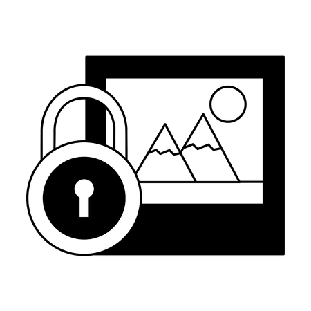 picture security data social media vector illustration Banque d'images - 126466161