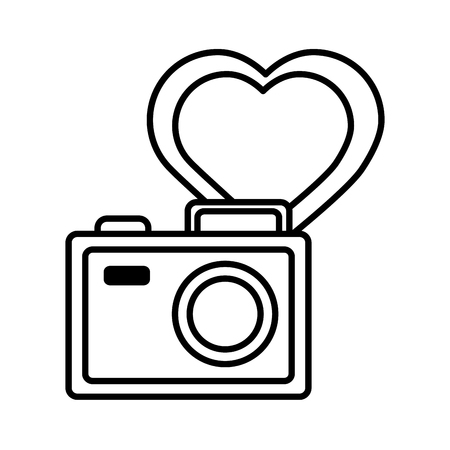 photography camera love like social media vector illustration
