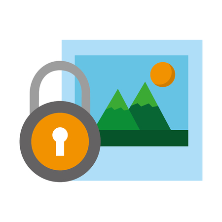 picture security data social media vector illustration