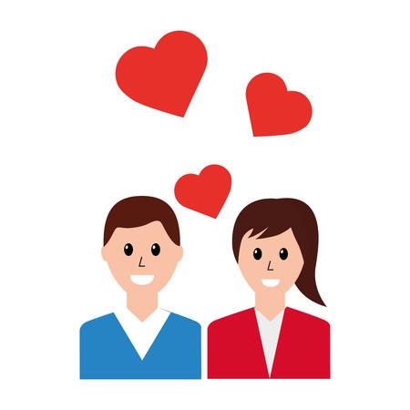 couple love romantic social media vector illustration