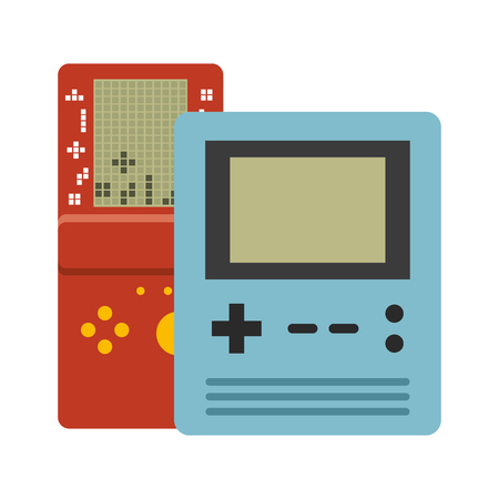 portable console devices video game vector illustration Ilustracja