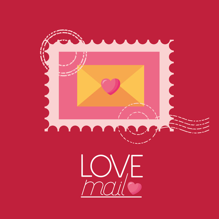 post stamp love mail valentine day vector illustration vector illustration