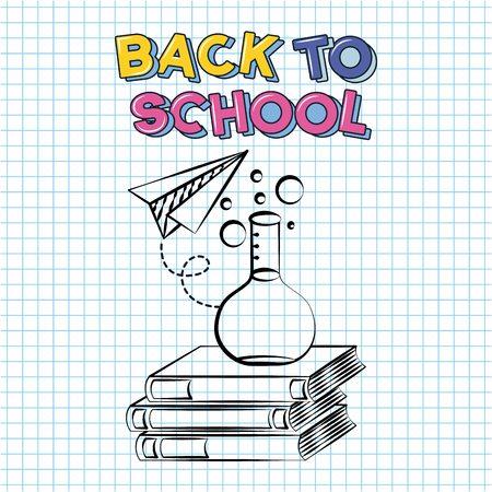science instrument books back to school vector illustration sketch Illustration