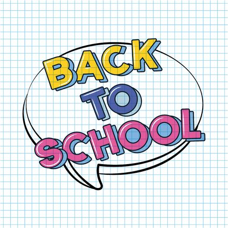 bubble sign back to school background vector illustration sketch