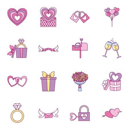 valentine day background decoration romantic vector illustration
