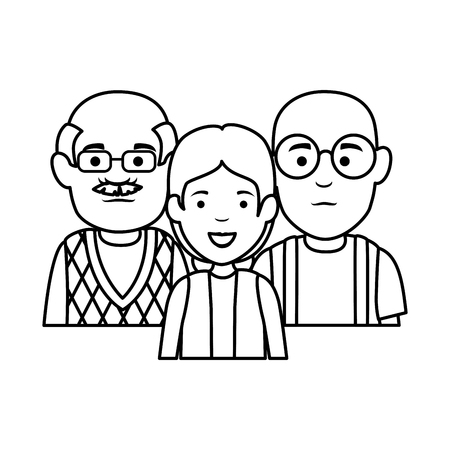 group of grandparents characters vector illustration design