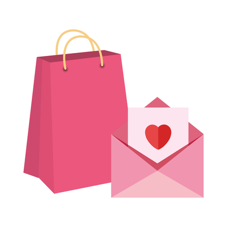 envelope with heart icon vector illustration design Stock Illustratie