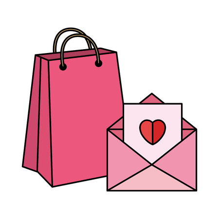 envelope with heart icon vector illustration design Ilustracja
