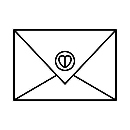 envelope with heart icon vector illustration design Illustration