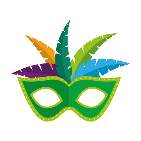 masque de carnaval avec des plumes vector illustration design Vecteurs