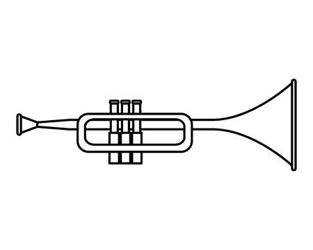 Trompete Musikinstrument Ikone Vektor-Illustration Design Vektorgrafik