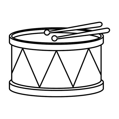 Karnevalstrommel-Instrument-Symbol-Vektor-Illustration-Design Vektorgrafik